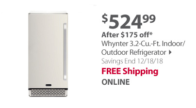 Whynter 3.2-Cu.-Ft. Indoor/Outdoor Refrigerator