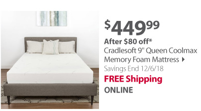 Cradlesoft 9 Queen Coolmax Memory Foam Mattress
