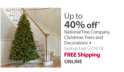 Save up to 40% on National Tree Company Christmas Trees and Decorations