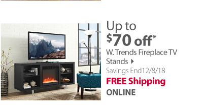 W. Trends Fireplace TV Stands