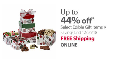 Save up to 44% on Select Edible Gift Items