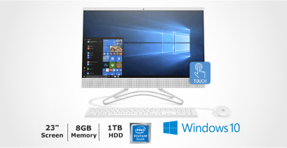 HP 24-f0051 All-In-One Touchscreen Desktop