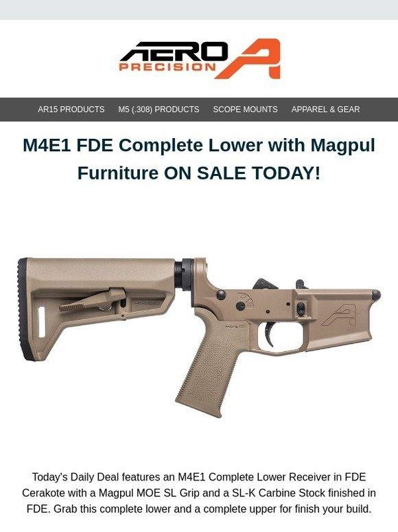 aero precision: M4E1 FDE Magpul Complete Lower ON SALE FOR
