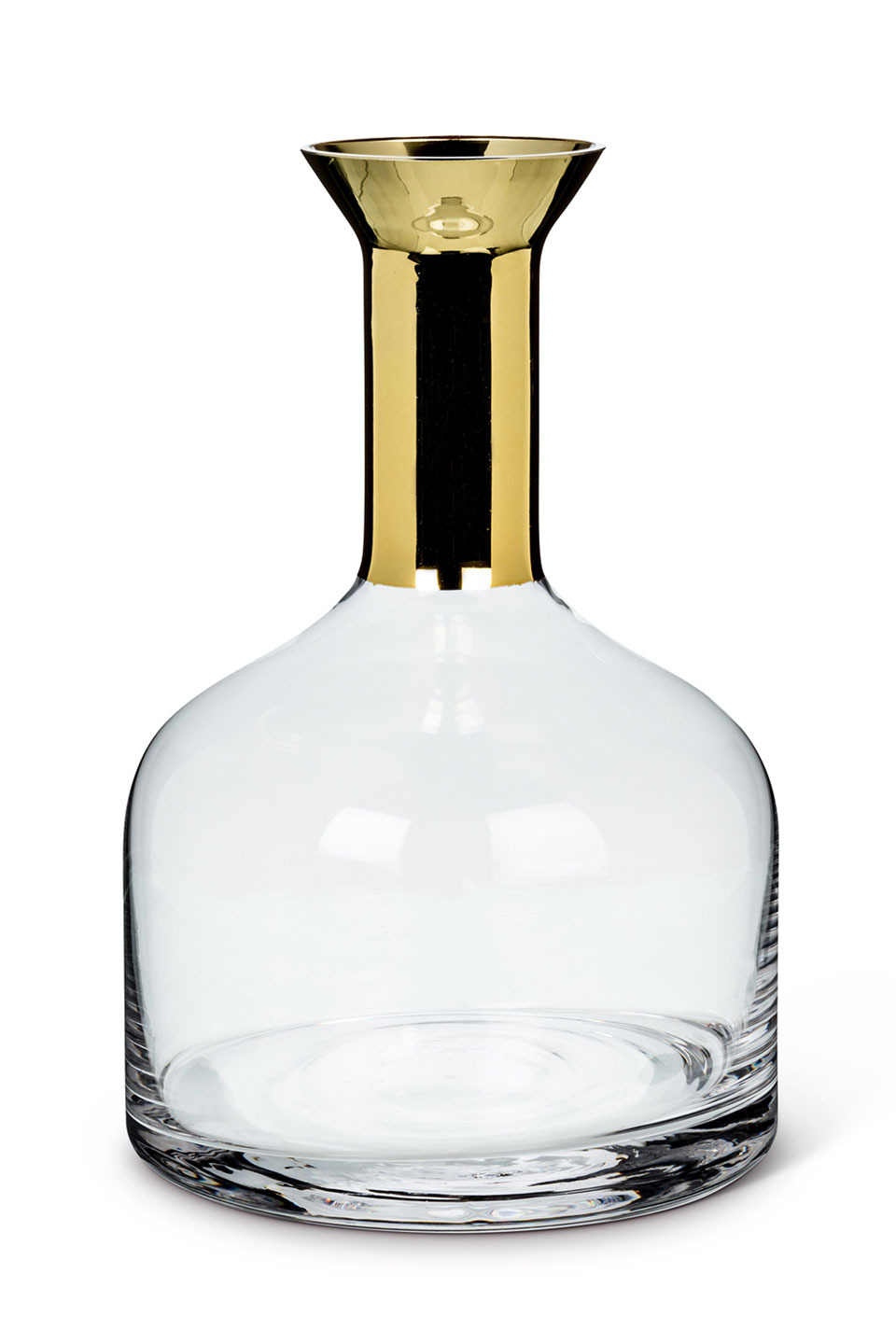 LARGE 56OZ WIDE CARAFE WITH GOLD TOP