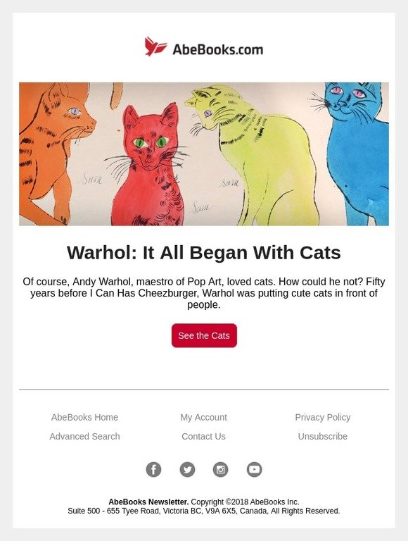 AbeBooks: Andy Warhol's Adorable Cats | Milled