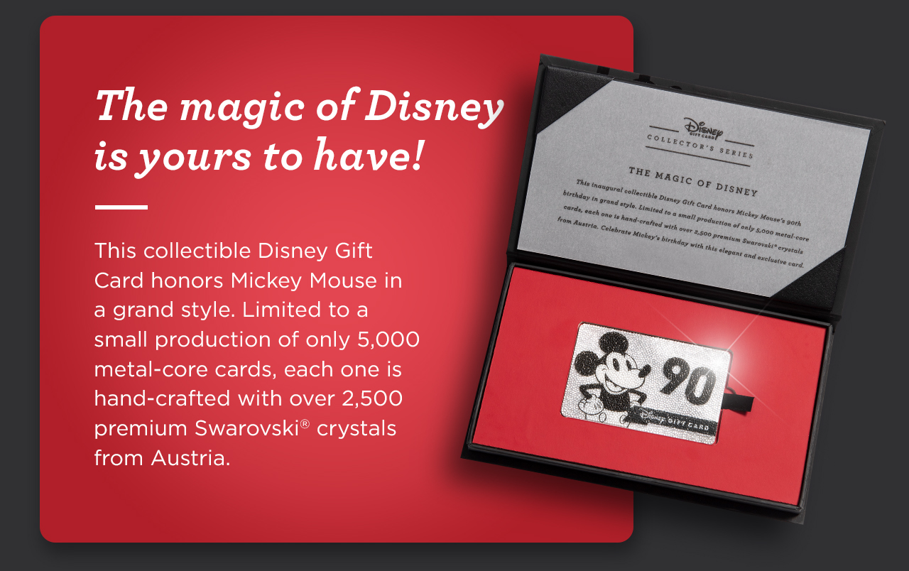 ShopDisney Introducing The Disney Gift Card Collectors Series