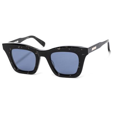 5e2438afccd Native Sons Valdez Sunglasses Black Spazzle Solid Blue