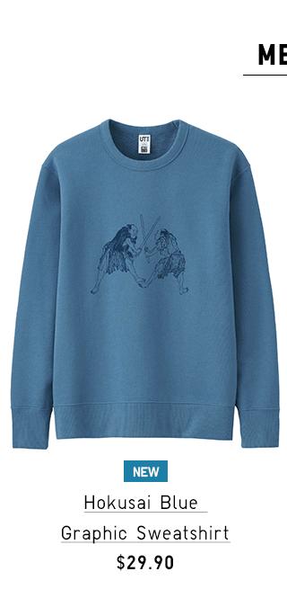 HOKUSAI BLUE GRAPHIC SHORT-SLEEVE T-SHIRT $14.90