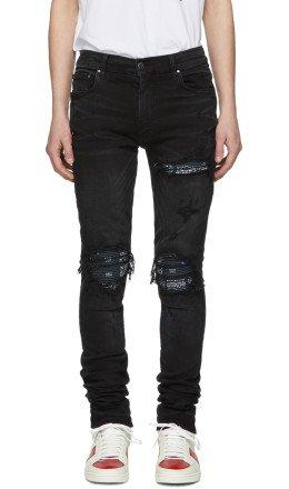 Amiri - Black Bandana MXI Jeans