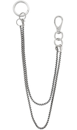 Martine Ali - Silver Double Baby Boxer Wallet Chain