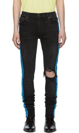 Amiri - Black Broken Track Jeans