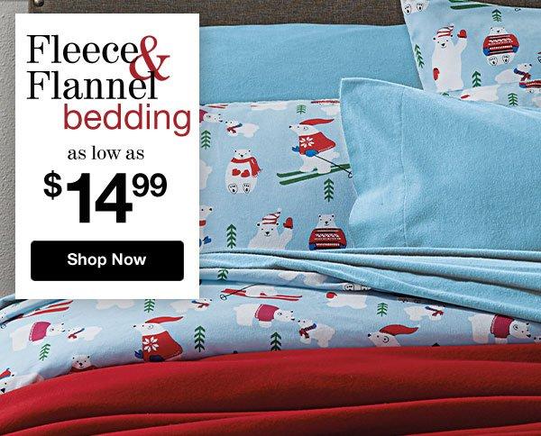 Shop Fleece & Flannel Bedding Sale!