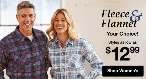 Shop Women's Fleece & Flannel!