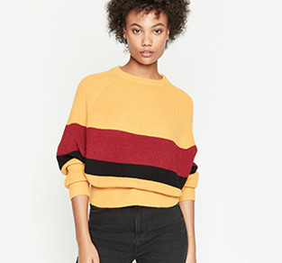 On-trend sweaters.
