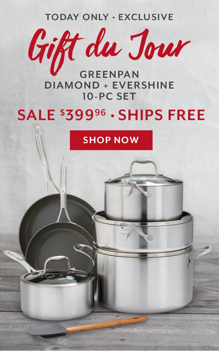 GreenPan Diamond + Evershine 10-Piece Set