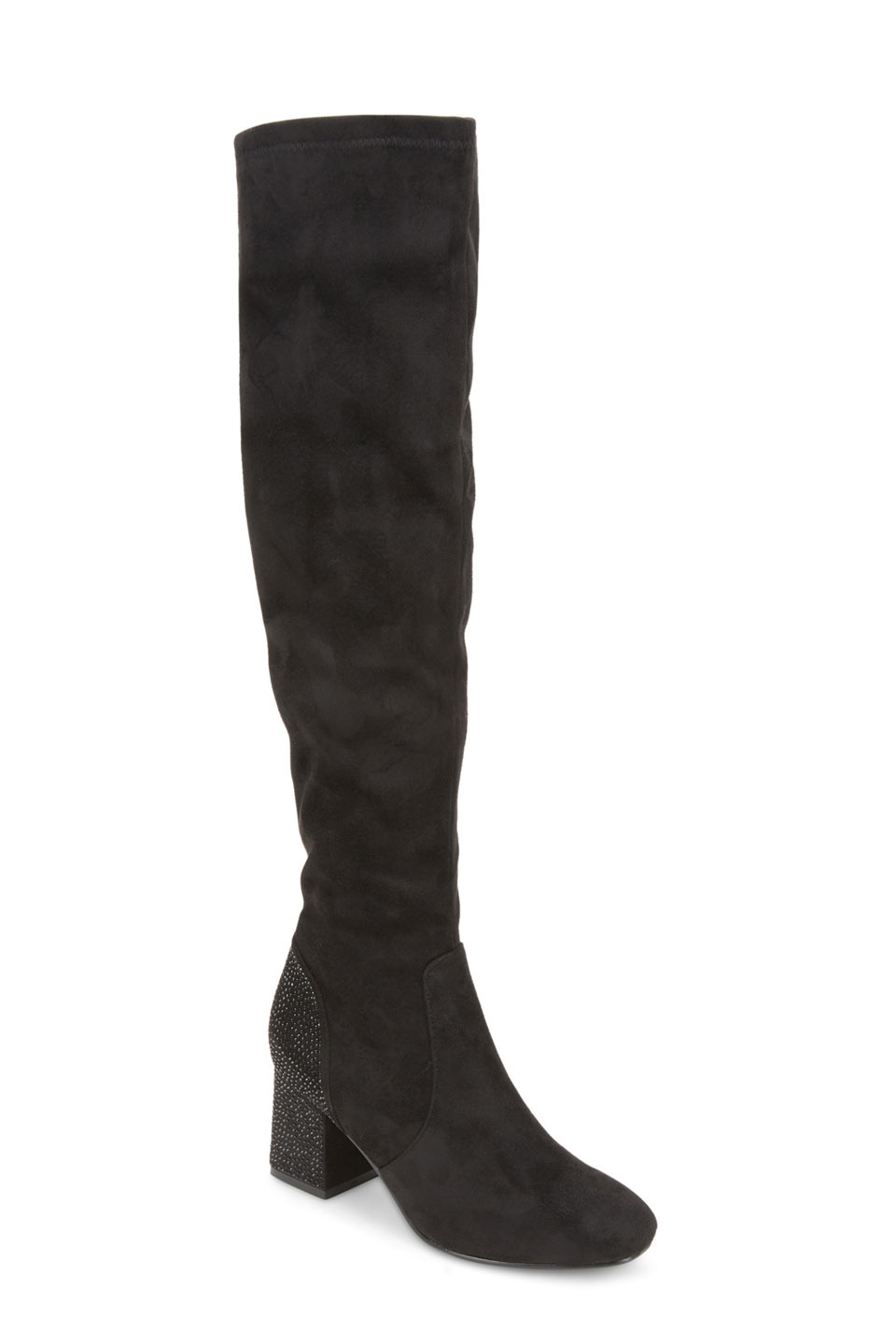 CANTWELL HEEL EMBELLISHED BOOTS IN BLACK