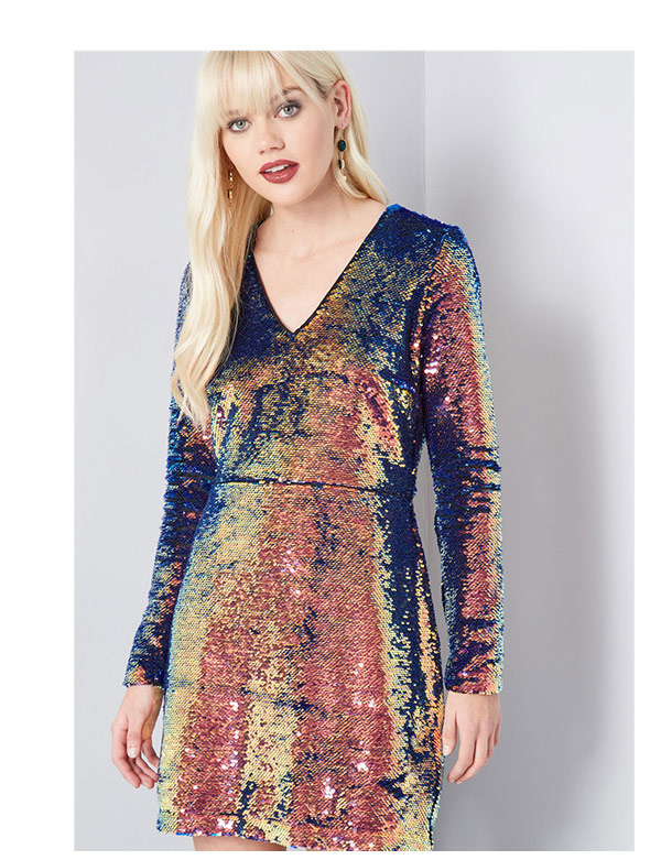 Shining Showstopper Sequin Dress