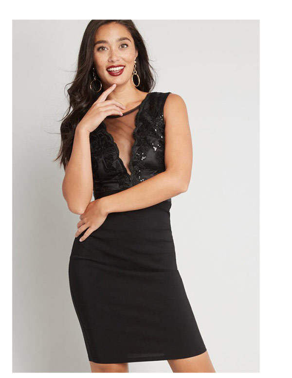 Center Stage Courageous Sequin Dress
