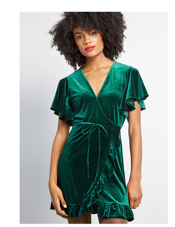 Effortless Expression Velvet Mini Dress