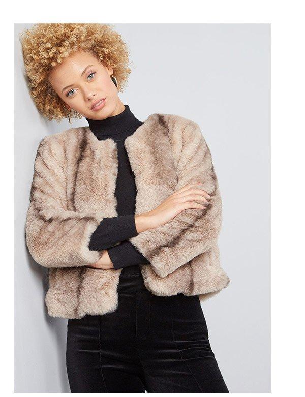 Statement Made Faux-Fur Jacket
