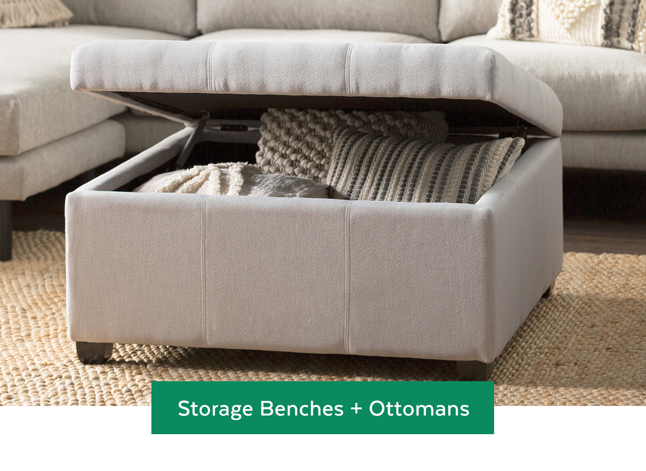 Storage Benches and Ottomans