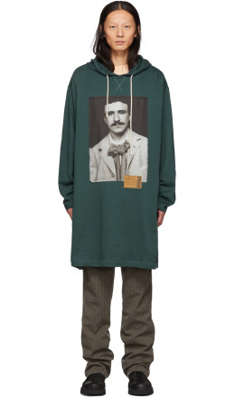 Loewe - Green Portrait Long Hoodie