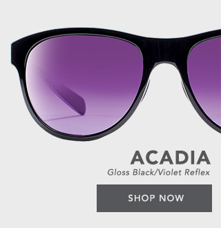 f206421899 Shop Native Eyewear ACADIA Sunglasses in Gloss Black with Violet Reflex  Lenses - Shop Now