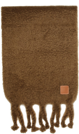 Loewe - Brown Mohair Fringe Scarf