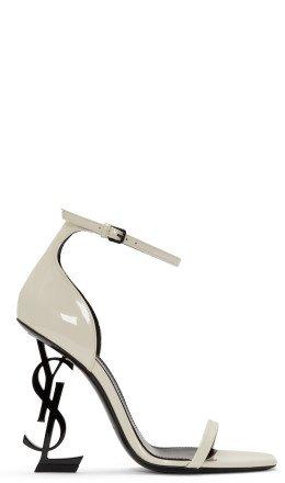 Saint Laurent - White Patent Opyum Sandals
