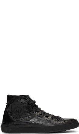 Saint Laurent - Black Bedford Mid-Top Sneakers