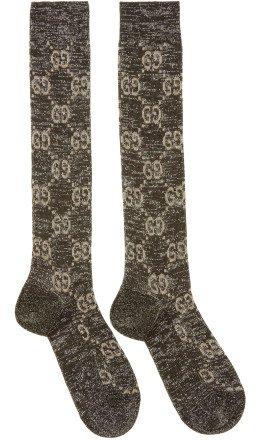 Gucci - Black Crystal GG Socks