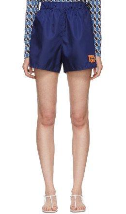 Prada - Navy Nylon Gabardine Sport Shorts
