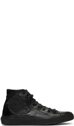 Saint Laurent - Black Bedford Mid-Top Sneakers