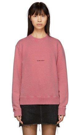 Saint Laurent - Pink Rive Gauche Logo Sweatshirt