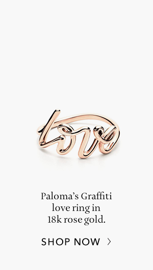 Shop Now: Paloma's Graffiti Rose Gold Love Ring
