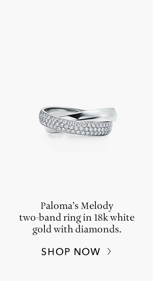 Shop Now: Paloma's Melody White Gold Two-Band Ring