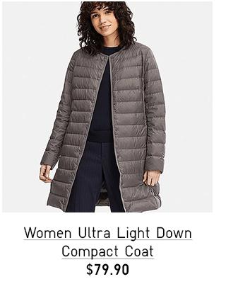 WOMEN ULTRA LIGHT DOWN COMPACT COAT $79.90