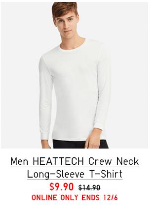 MEN HEATTECH CREW NECK SHORT-SLEEVE T-SHIRT $14.90