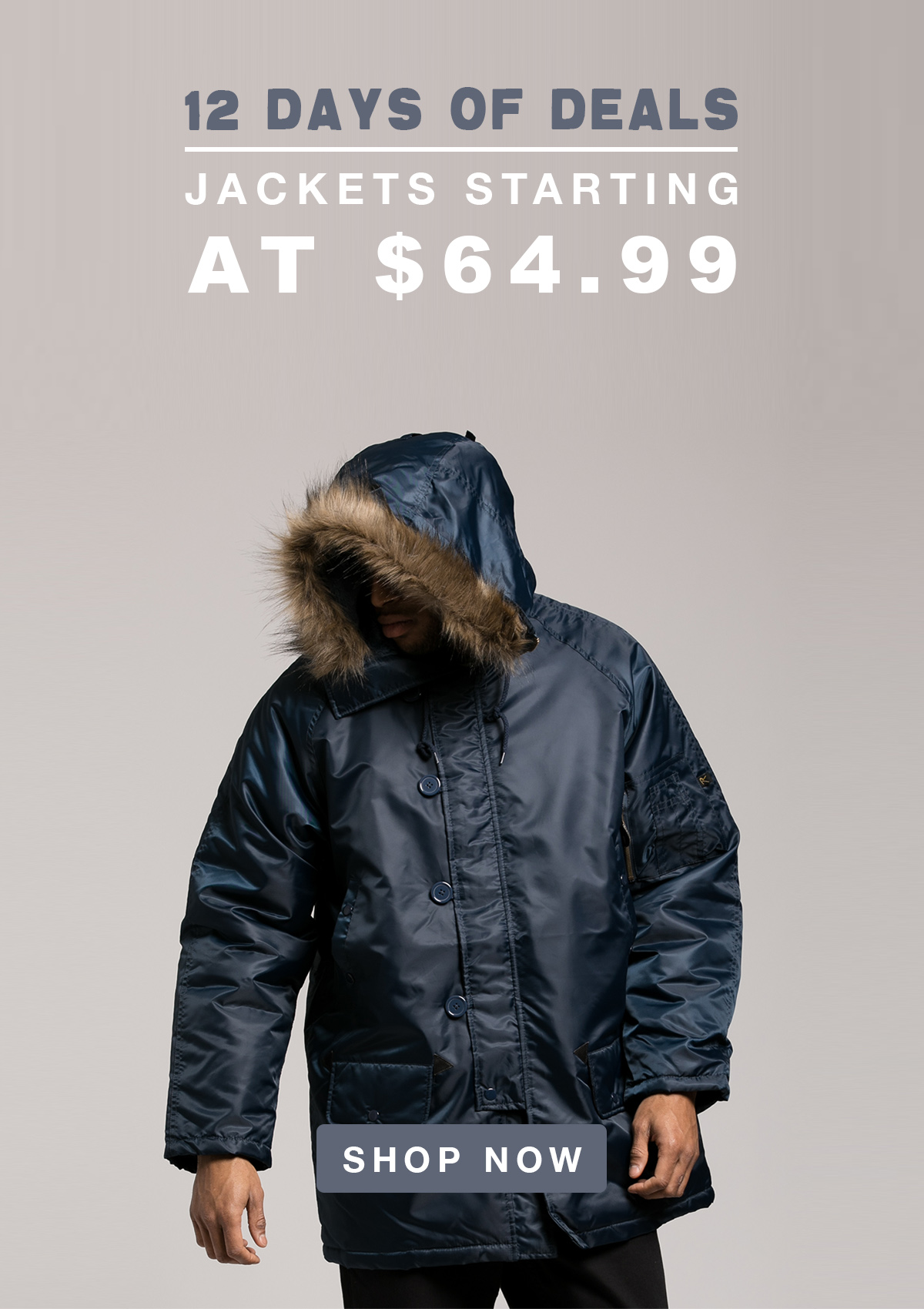 Day 2 of Deals - Jackets Starting at 64.99