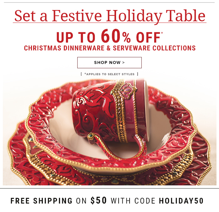 Set a Festive Holiday Table- Up to 60% Off!