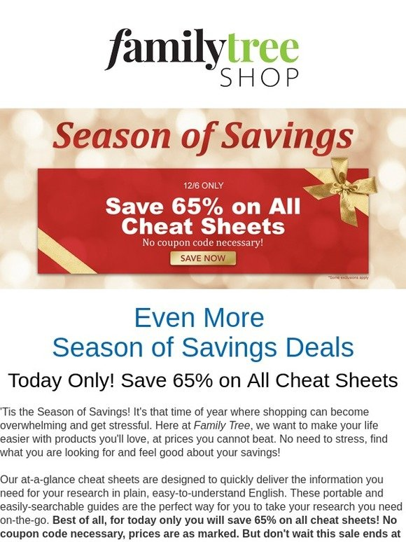 family tree magazine today only save 65 on genealogy cheat sheets