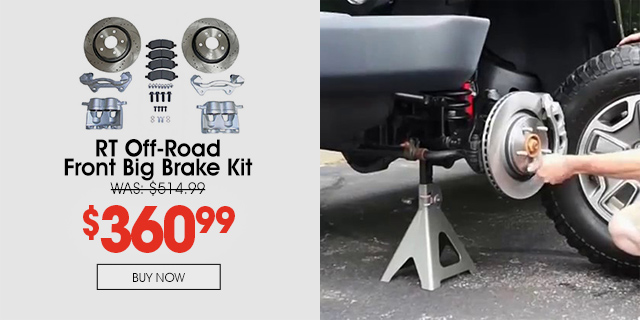 Purchase RT Off-Road JK Front Brake Kit and save 30%