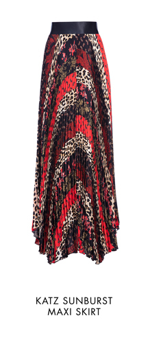 KATZ SUNBURST MAXI SKIRT