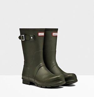 Men's Original Short Rain Boots: Dark Olive