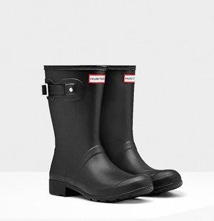 Women's Original Tour Short Rain Boots: Black