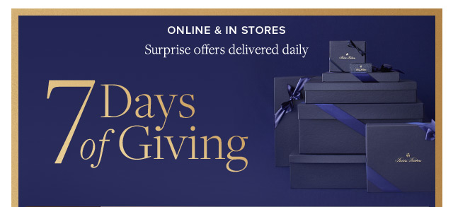 7 DAYS OF GIVING