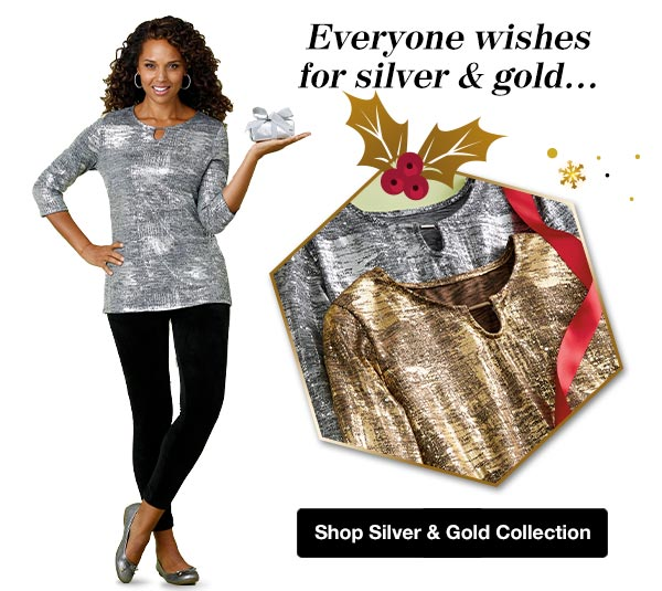 Shop Women's Silver & Gold Collection!