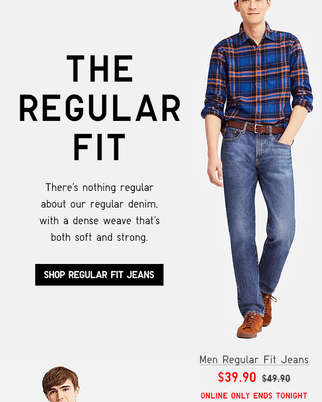 MEN REGULAR FIT JEANS $39.90 - SHOP REGULAR FIT JEANS