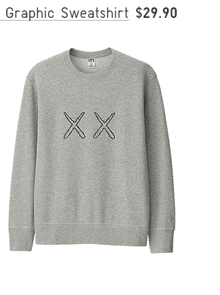 ADULT KAWS X SESAME STREET GRAPHIC SWEATSHIRT $29.90