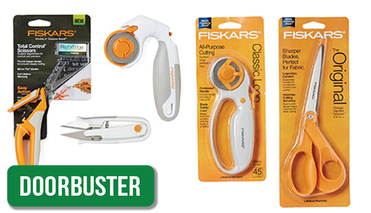 Fiskars Sewing and Quilting Cutting Tools.